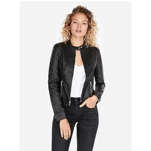 Express Faux Leather Black Jacket